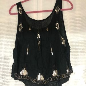 Black camisole with sequins
